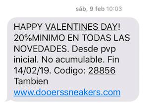 copys para SMS marketing: Doerss