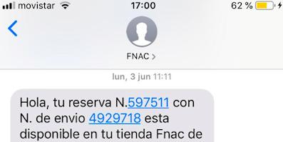 reserva por sms