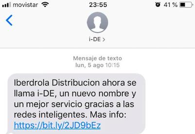 copys para SMS marketing: Iberdrola