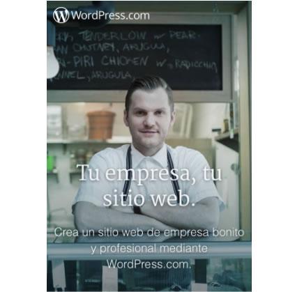 landing mobile de WordPress