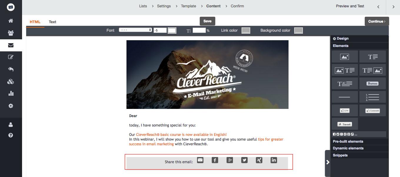 campañas de email marketing más virales: Botones a redes sociales