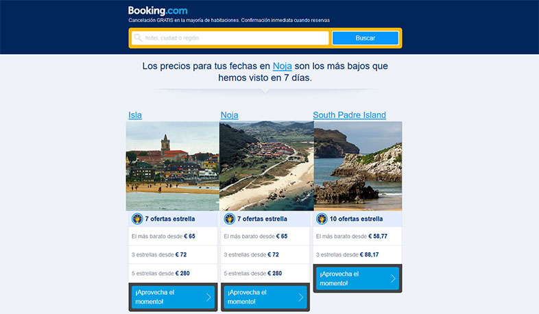 Email upselling Booking