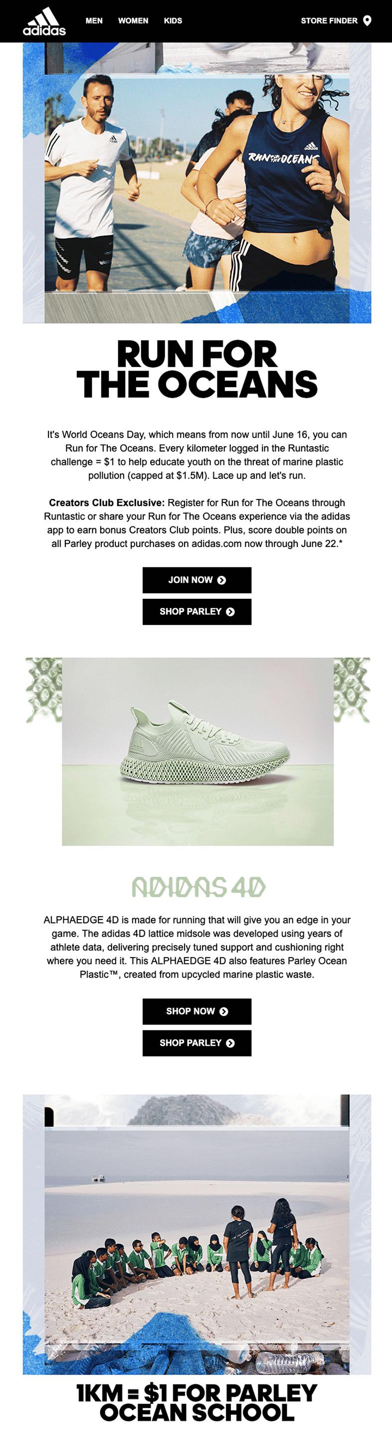 Big data en campañas de email marketing: Adidas