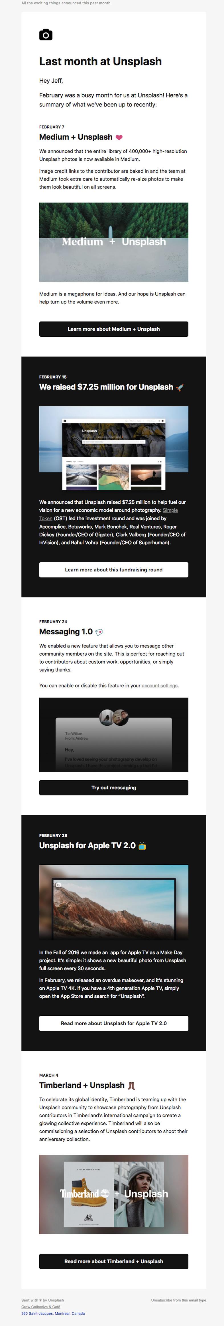 newsletter Unsplash