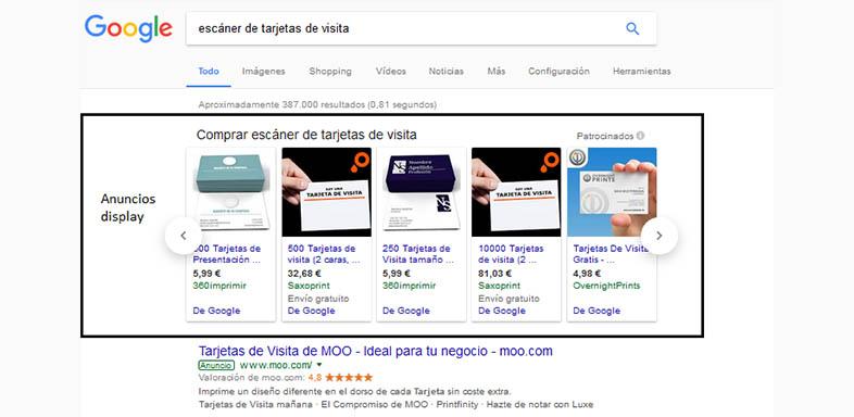 Ad retargeting en búsquedas de Google