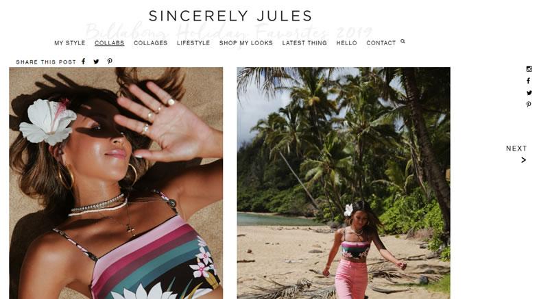 email marketing para impulsar contenidos del blog: Sincerely Jules