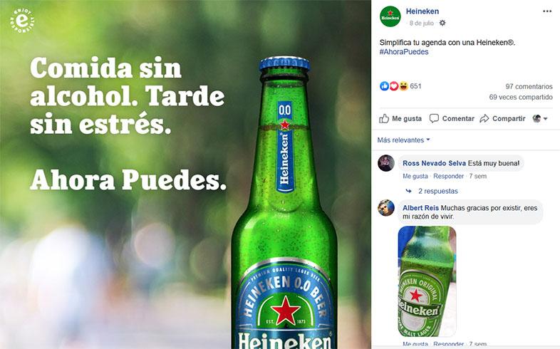 Calendario de marketing 2020: Heineken en redes sociales