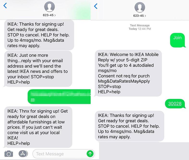 Campaña de sms marketing de IKEA