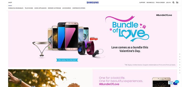 Samsung celebra el día de los enamorados