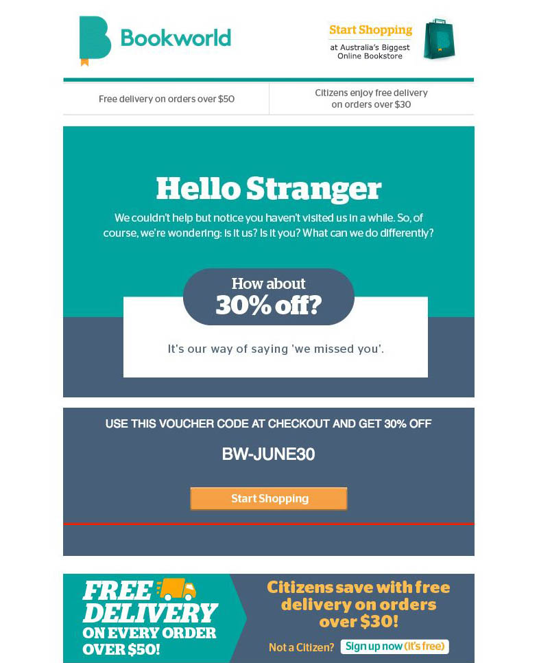 e-mail con sconti