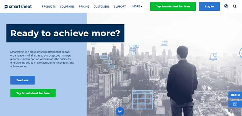 softwares de gestión de proyectos: Smartsheet