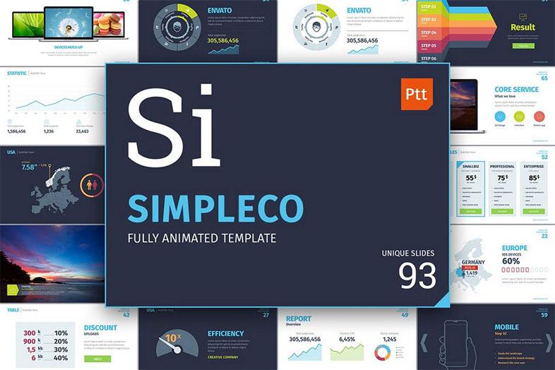 Plantillas animadas de PowerPoint: Simpleco