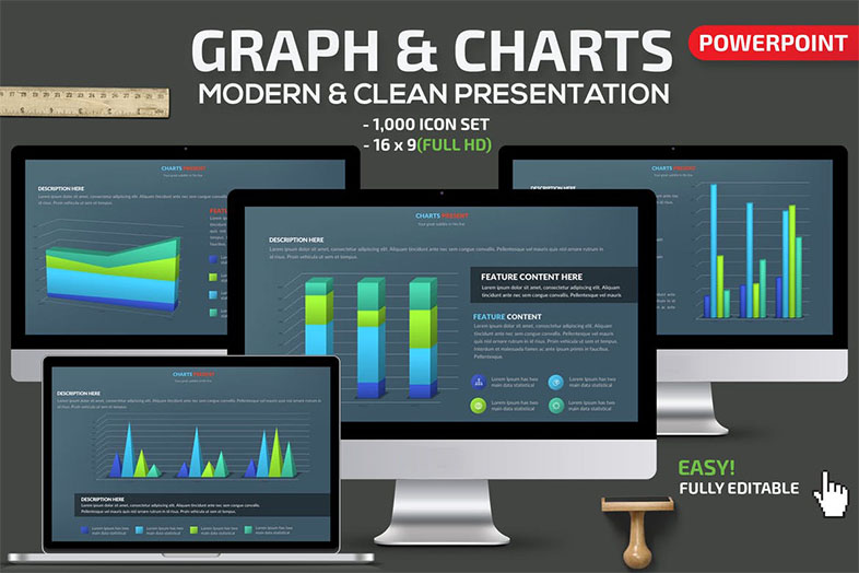 Graph & Charts Animated PowerPoint Template