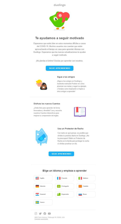 Duolingo email marketing