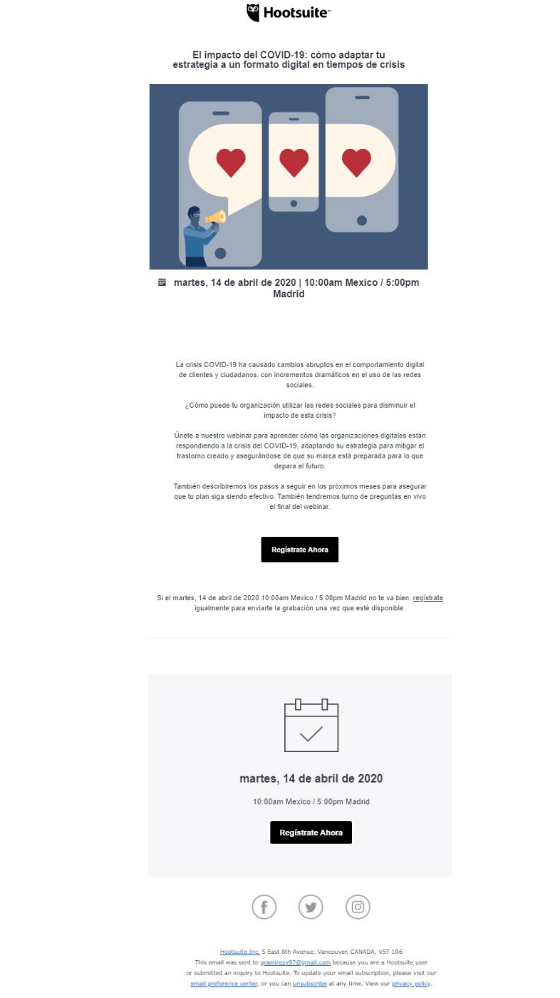 Hootsuite email marketing
