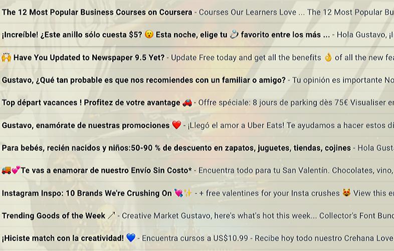 Emojis en los asuntos de email