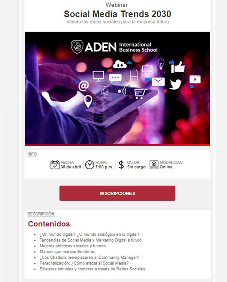 Email marketing per webinar