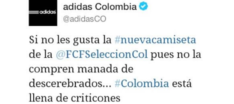 Tuit de Adidas Colombia