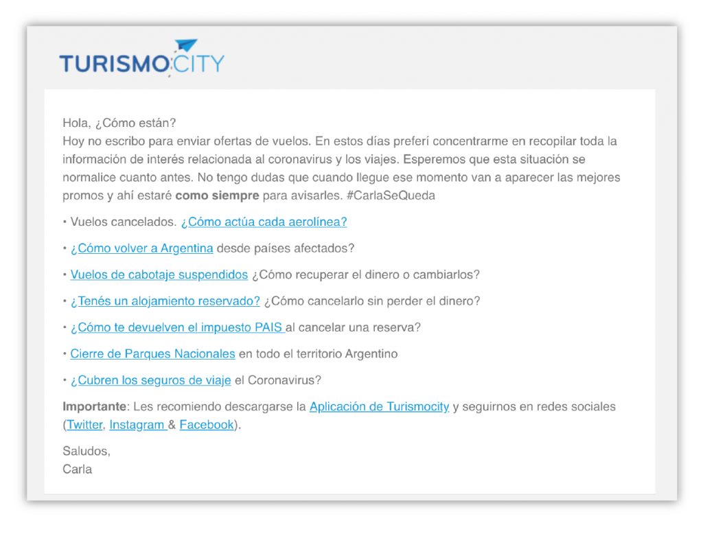 Turismo email marketing