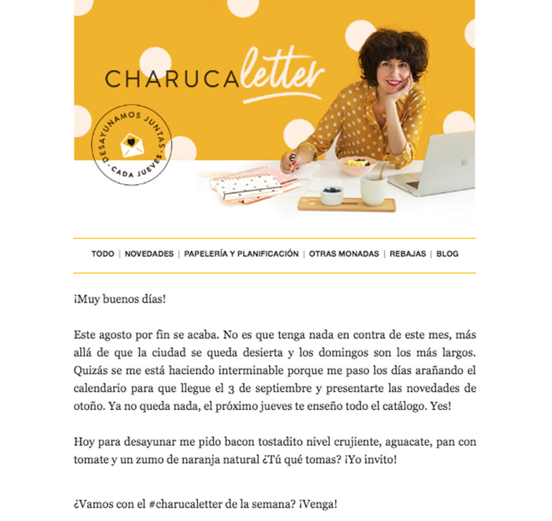 Charuca email marketing