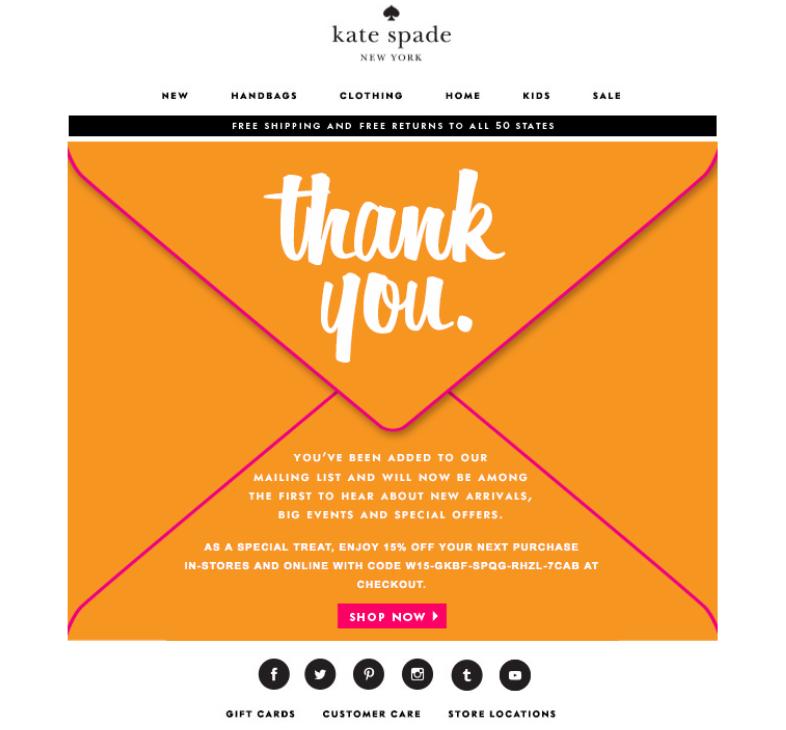 Email de bienvenida perfecto: Agradece