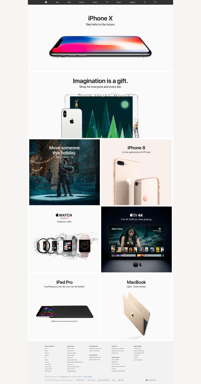 Apple y sus Landing pages vendedoras