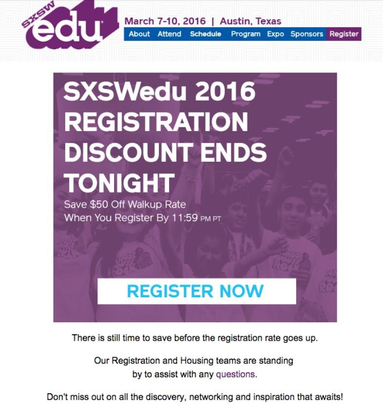 Registro inmediato en email marketing para webinars