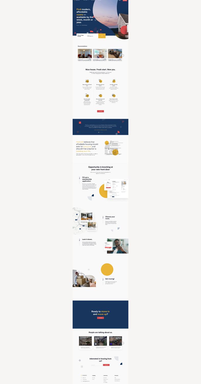 Landing page de PadSplit