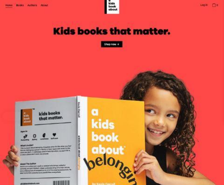Landing pages A kids book about