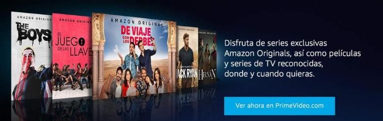 Amazon Prime Vídeo landing page