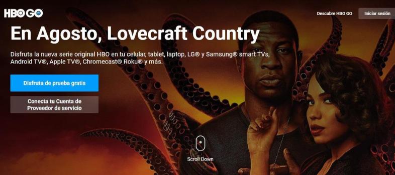 Le migliori landing page per promuovere una serie TV: HBO GO