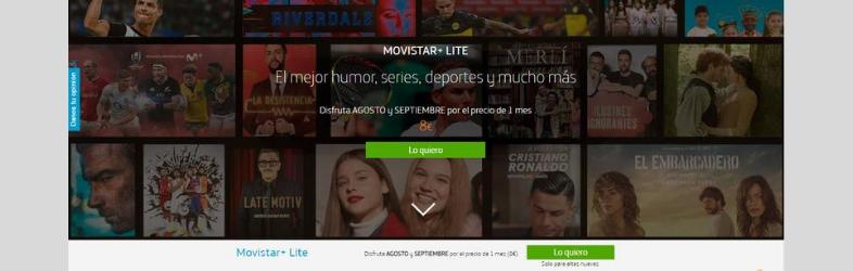Le migliori landing page per promuovere una serie TV: Movistar+ lite