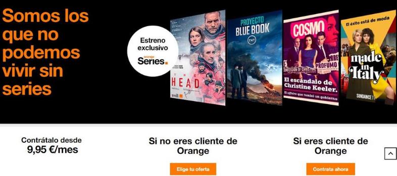 Landing Page di Orange Tv