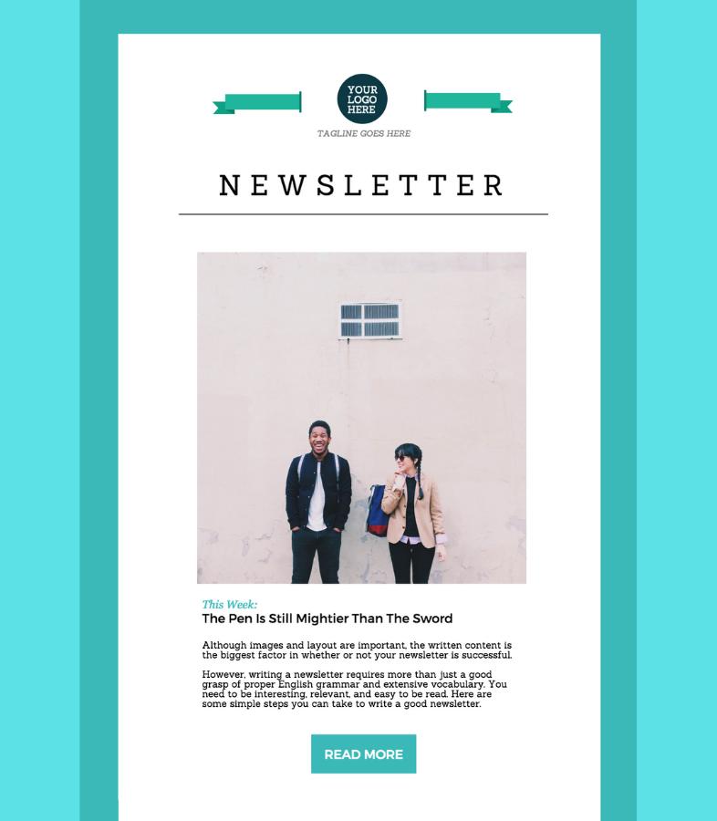 Newsletter minimalista