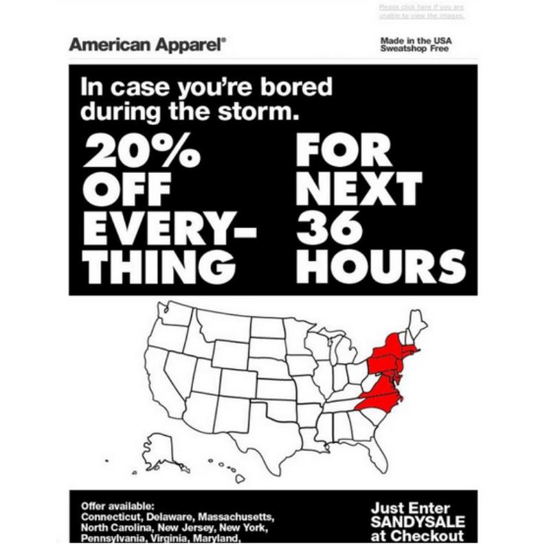 cattive campagne di marketing: american apparel