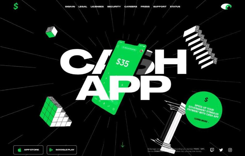 Landing page Cash App