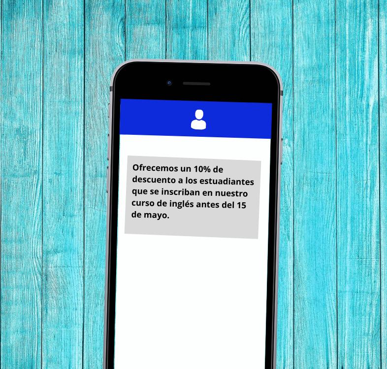 promozioni o sconti sms marketing