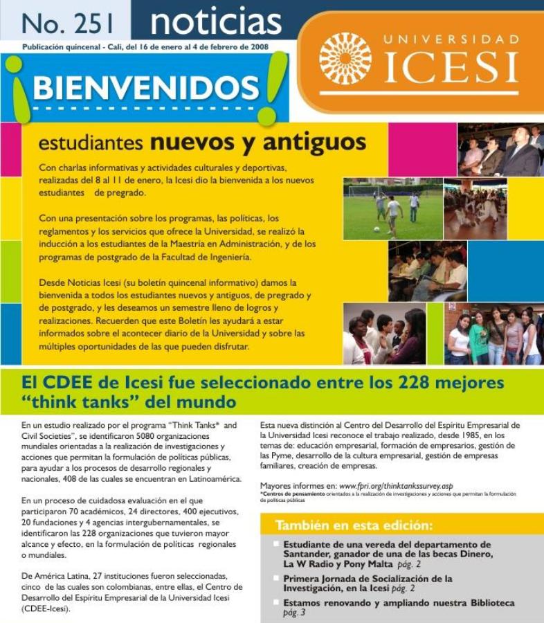 Ejemplo newsletter institucional