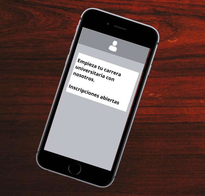 SMS per attirare gli studenti