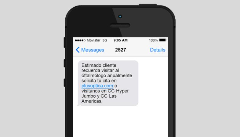 SMS con enlace