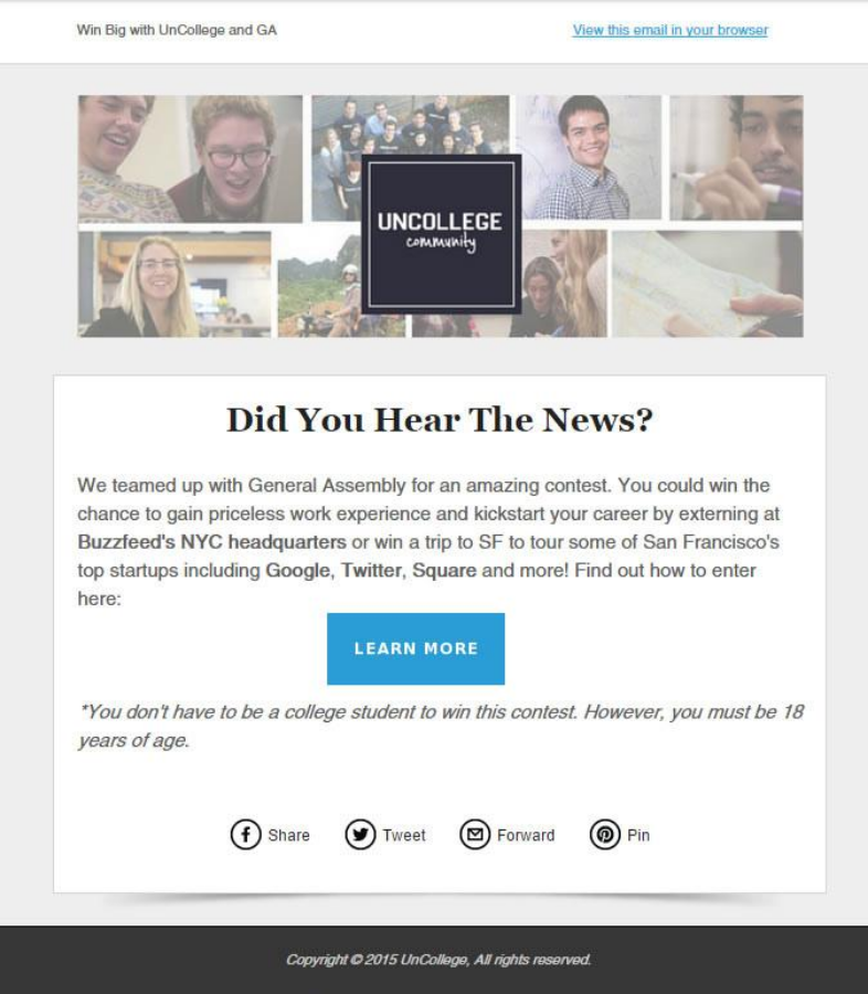 Tipografía para newsletter: tamaño de la fuente