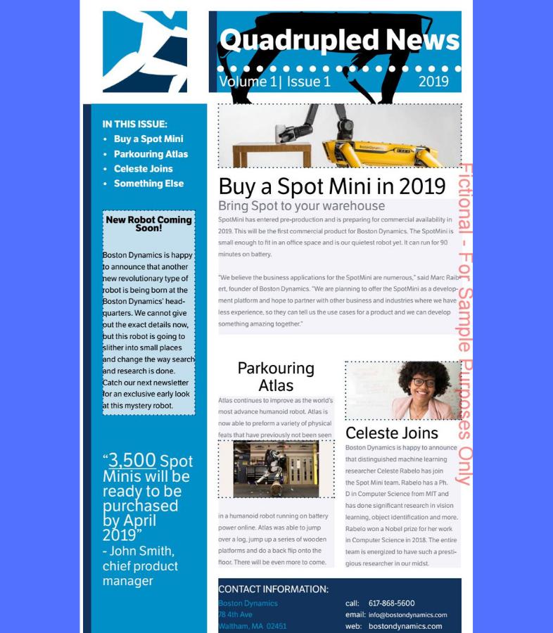 Condividi newsletter per dipendenti