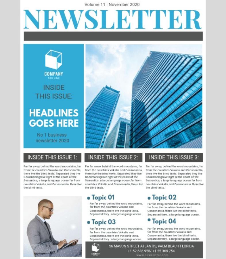 newsletter per i dipendenti esempio