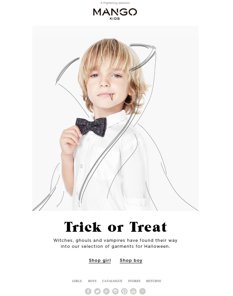 Correo minimalista de Halloween