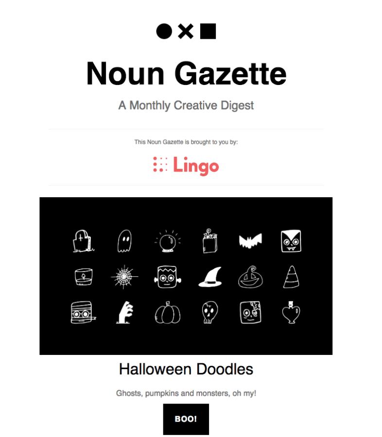 email Halloween Noun Gazette