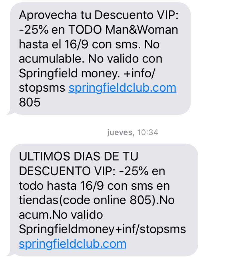 Ofertas por SMS