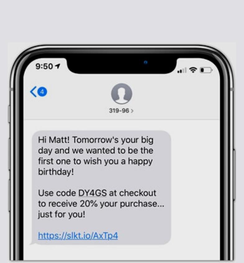 SMS happy bithday