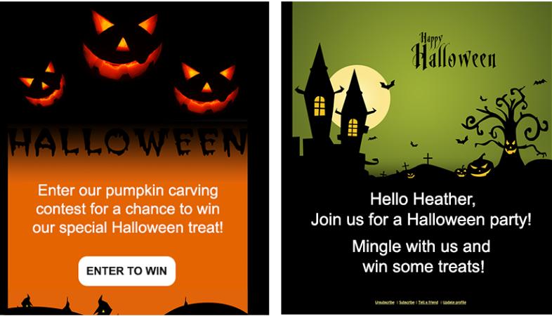 email di halloween esempio