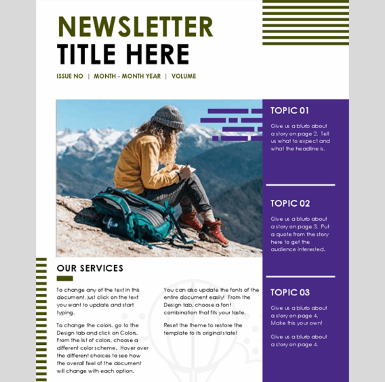 Newsletter colore