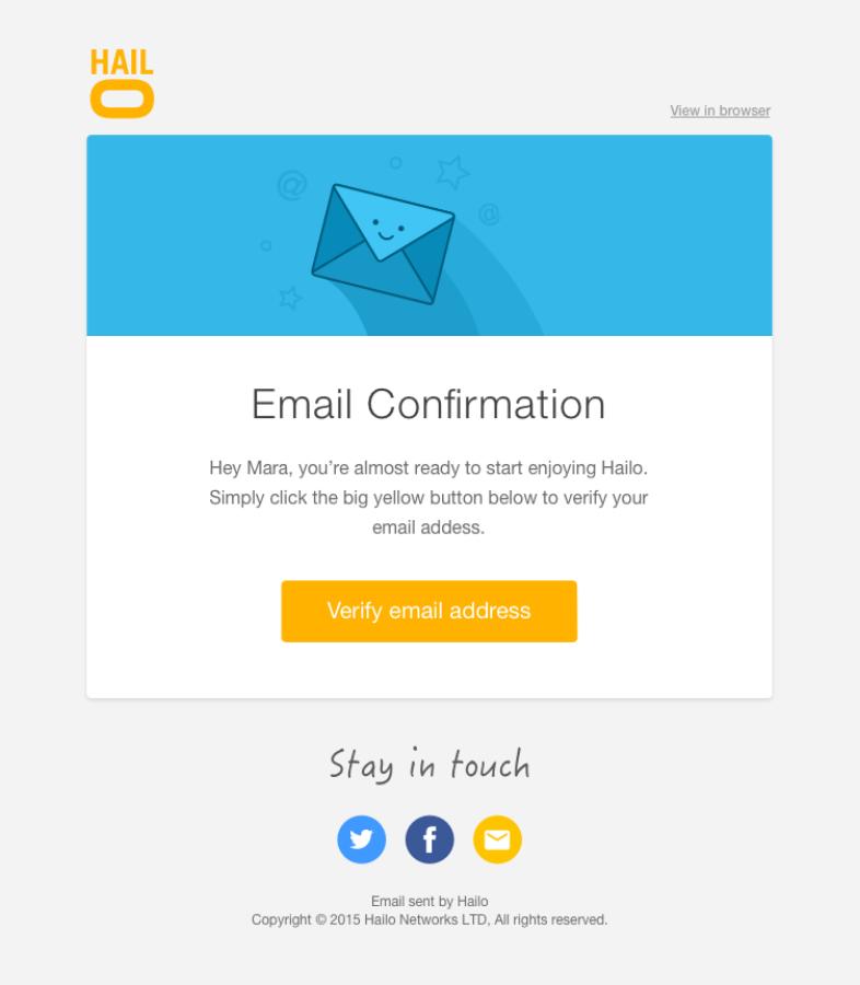 confirmación de emails